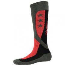 Flag Ski Sock Kids', Black/Volcano/Polar, S by Spyder