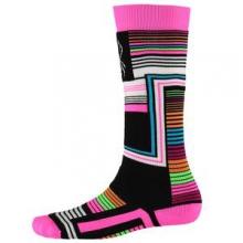 Vybe Ski Sock Kids', Black Vybe Print, L