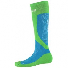 Surprise Ski Sock Women's, Riviera/Green Flash/White, L