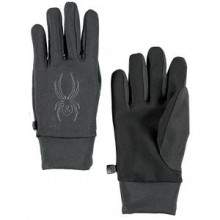 Stretch Fleece Conduct Glove Men's, Black, L by Spyder