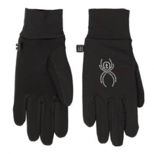 Stretch Fleece Conduct Glove Women's, Black/Silver, L