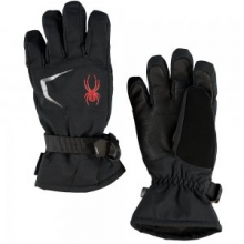 Traverse GORE-TEX Ski Glove Boys', Black/Black/Volcano, S by Spyder
