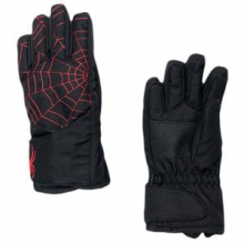 Mini Overweb Glove Little Kids', Black/Volcano, L by Spyder