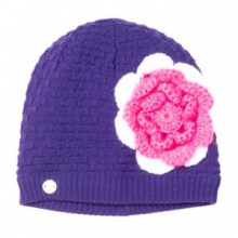 Bitsy Rosie Hat Little Girls', Iris/White/Bryte Bubblegum,