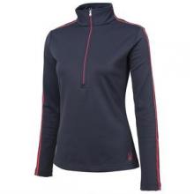 St Moritz Therma Stretch Turtleneck Mid-Layer Women's, Depth/Bryte Pink, 12 by Spyder
