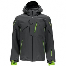 Monterosa Insulated Ski Jacket Men's, Polar/Theory Green/Bryte Yellow, 3XL