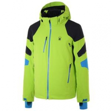 Verbier Insulated Ski Jacket Men's, Theory Green/Black/Electric Blue, M by Spyder
