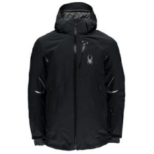 Leader Insulated Ski Jacket Men's, Electric Blue/Polar/White, M by Spyder