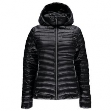 Timeless Hoody Down Jacket Women's, Black/Silver, XL by Spyder