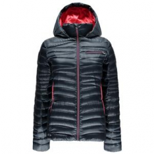 Timeless Hoody Down Jacket Women's, Depth/Bryte Pink, XL by Spyder