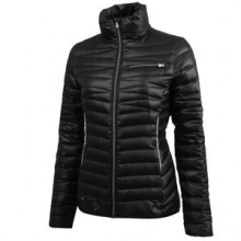 Timeless Down Jacket Women's, Black/Silver, XL by Spyder