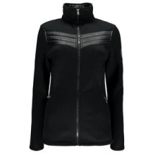 Divine Mid-Weight Core Sweater Jacket Women's, Black/Black, XS by Spyder