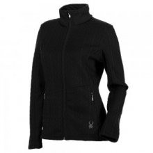 Major Cable Stryke Sweater Jacket Women's, Black, XXL by Spyder