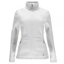 Endure Full Zip Mid-Weight Core Sweater Jacket Women's, White, XXL by Spyder