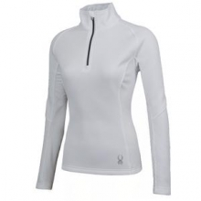 Valor Half Zip Mid-Weight Core Sweater Jacket Women's, White/Silver, XL