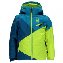 Mini Ambush Insulated Ski Jacket Little Boys', Concept Blue/Electric Blue/Bryte Yellow, 2