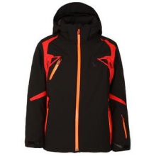 Vail Insulated Ski Jacket Boys', Black/Volcano/Bryte Orange, 16