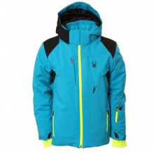 Speed Insulated Ski Jacket Boys', Electric Blue/Black/Bryte Yellow, 18