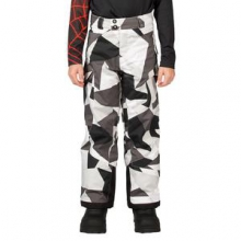 Action Insulated Ski Pant Boys', Black Faceted Print, 18