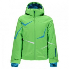 Tresh Insulated Ski Jacket Girls', Green Flash/Riviera/White, 8
