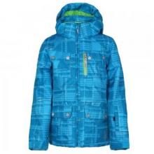 Evar Insulated Ski Jacket Girls', Riviera Check Plaid Print/Green Flash, 14 by Spyder