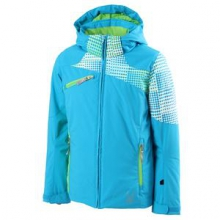 Project Insulated Ski Jacket Girls', Riviera/Riviera Diamond Print/Green Flash, 8