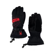 Overweb Glove Boys', Black/Red, L by Spyder