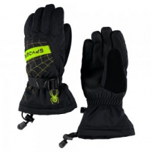Overweb Glove Boys', Black/Red, L by Spyder