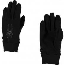 Stretch Fleece Conduct Glove Men's, Black, L by Spyder