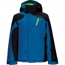 Guard Ski Jacket Boys', Concept Blue/Black/Bryte Green, 10 in Kirkwood, MO