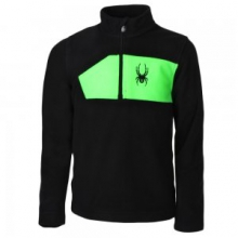 Speed Fleece Top Boys', Black/Bryte Green, L