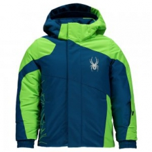 Mini Guard Insulated Ski Jacket Little Boys', Concept Blue/Bryte Green, 4