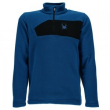 Mini Speed Fleece Top Little Boys', Concept Blue/Black, XS
