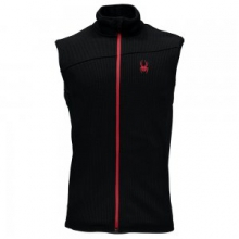 Constant Mid Wt Stryke Fleece Vest Men's, Black/Red, L