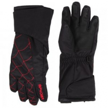 Mini Overweb Glove Little Kids', Black/Red, L by Spyder