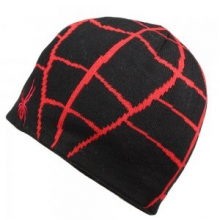 Mini Web Hat Little Boys', Black/Red,
