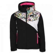 Project Insulated Ski Jacket Girls', Black/Kaleidoscope/White, 10