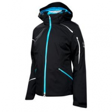 Pandora Insulated Ski Jacket Women's, Black/White/Riviera, 10
