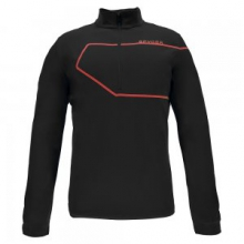 Commander Therma Stretch Turtleneck Mid-Layer Men's, Black/Red, L