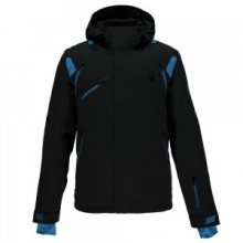 Garmisch Ski Jacket Men's, Black/Electric Blue, L