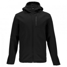 Patsch Hoody Softshell Jacket Men's, Black/Polar, L by Spyder
