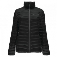 Timeless Down Jacket Women's, Black/Silver, L by Spyder