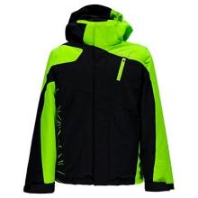 Guard Ski Jacket Boys', Concept Blue/Black/Bryte Green, 10 by Spyder