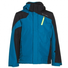 Guard Ski Jacket Boys', Concept Blue/Black/Bryte Green, 10