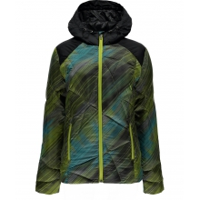 - Bernese Jacket W - X-SMALL - Geo Rays Acid Print Black