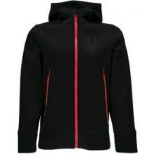 Orbit Fleece Jacket - Boy's - Black/Red In Size by Spyder