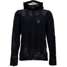 Riot Hoody - Boy's - Space Armour Electric Blue/Black In Size by Spyder