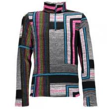 Alpine Chic Turtleneck Sweater Mid-Layer Girls', Black Vybe Print, XL by Spyder