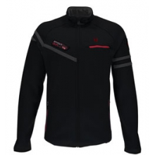 Alps Full Zip Mid Wt. Stryke Fleece Jacket - Men's - Black/Red/Polar In Size by Spyder