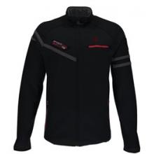 Alps Full Zip Mid Wt. Stryke Fleece Jacket - Men's - Black/Red/Polar In Size